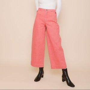 Carleen Pink Lindsay Wide Leg Denim Pant